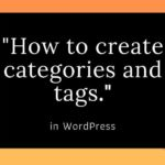 how to create categories and tags