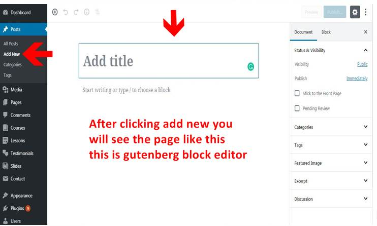 Change WordPress Gutenberg to Classic Editor