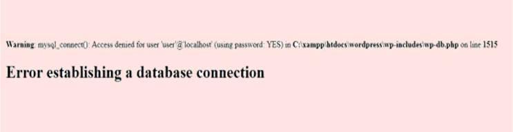 Error Establishing a Database Connection problem in WordPress