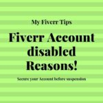 Fiverr Account disabled Reasons