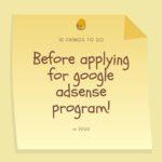 applying for google adsense program