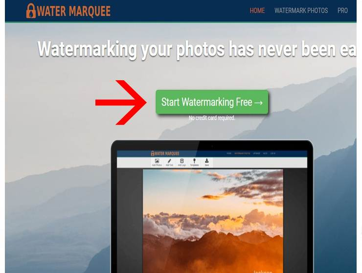 watermarquee upload an image