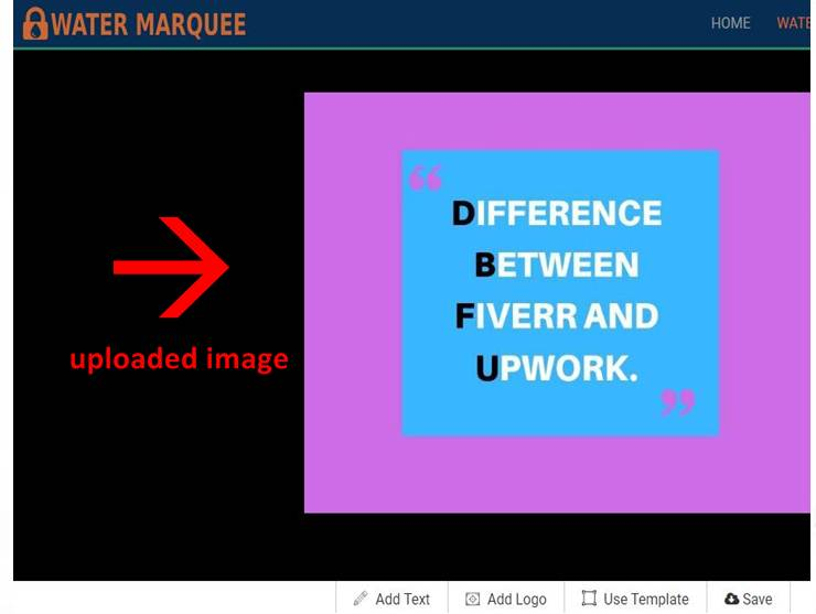 uploaded image on watermarquee