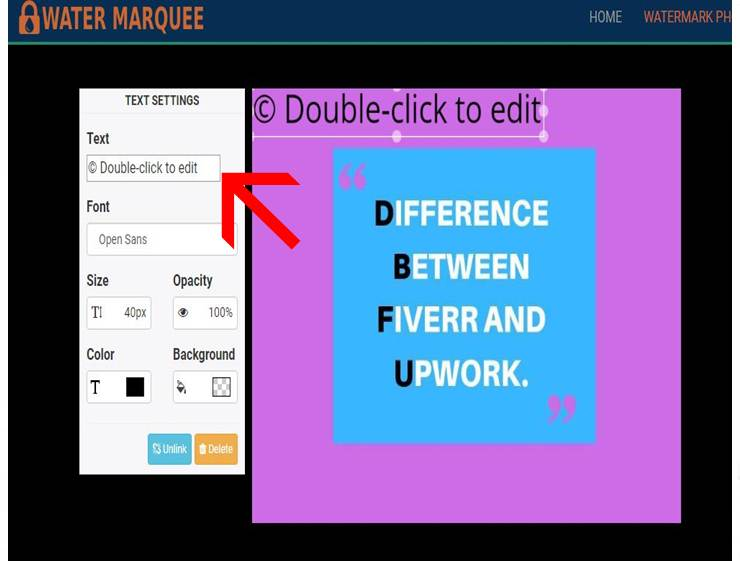 add a water mark with watermarquee