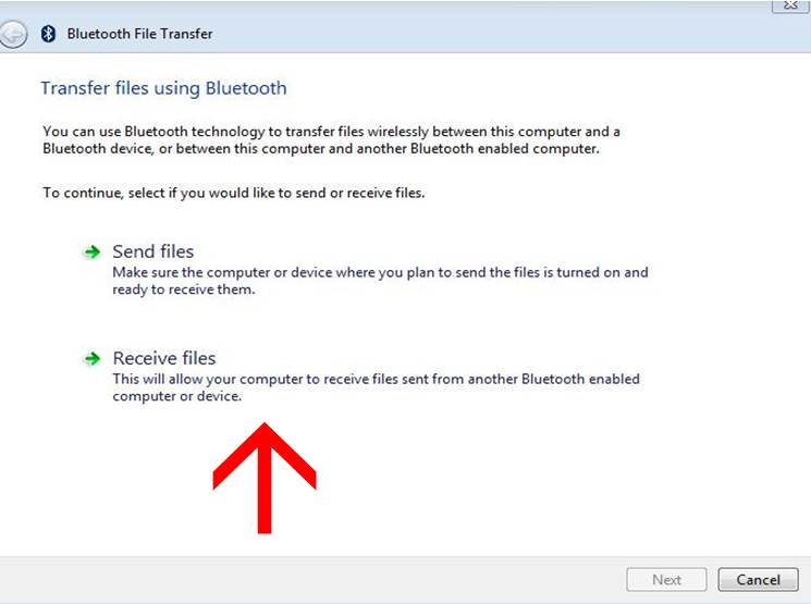 send and receive files from bluetooth