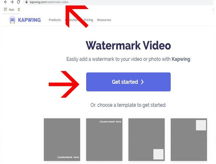 kapwing add a video watermark