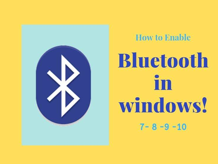enable bluetooth in windows 7