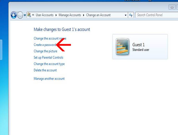 set a password for guest account