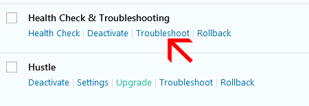 click troubleshooting