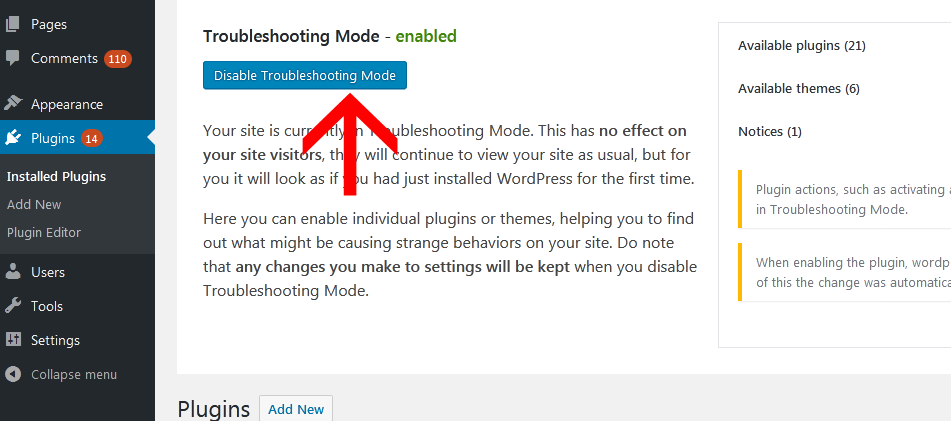 enable troubleshooting