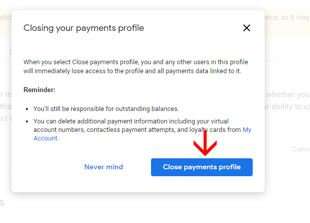 How to Close Adsense payment profile Permanently