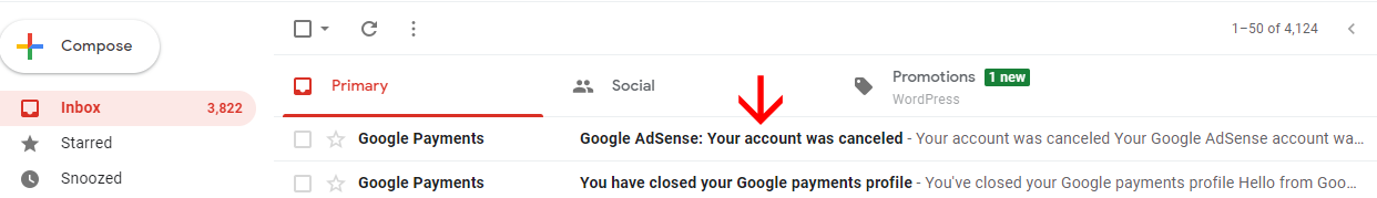 your google adsense account was cancelled