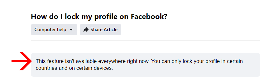 locked and secure Facebook profile