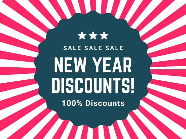 Discounts on Christmas and New Year